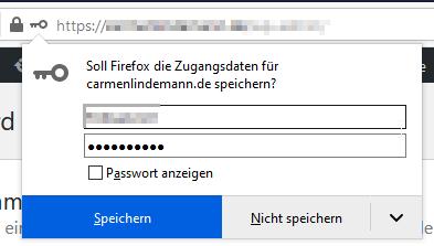 Firefox Passwort Speichern Erzwingen